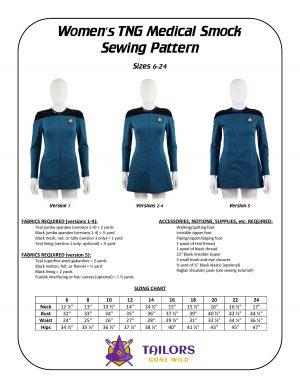 TNG medical smock sewing pattern